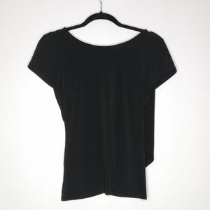 Express Fitted Blouse Faux Wrap Back